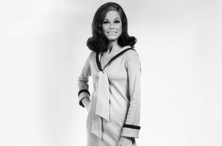 Mary Tyler Moore in 1974. (Getty)