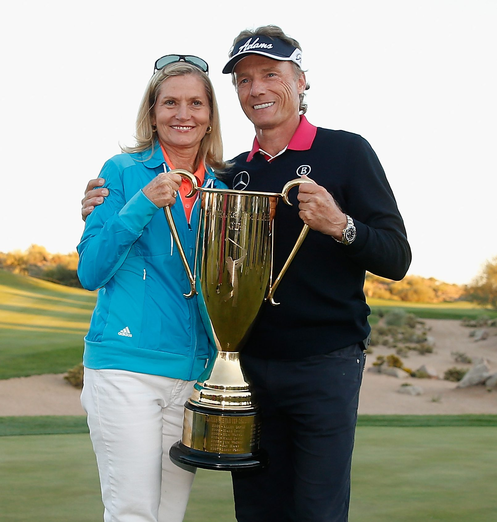Bernhard Langer with his wife, Vikki Carol. (Getty)