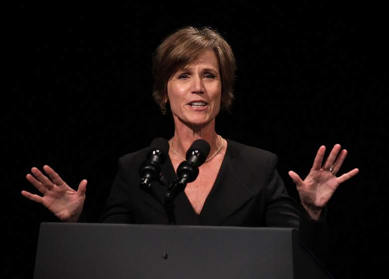 Sally Yates speaks during a formal investiture ceremony for Attorney General Loretta Lynch on June 17th, 2015. (Getty)