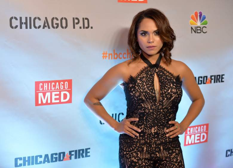 Monica Raymund attends a premiere party for NBC's 'Chicago Fire', 'Chicago P.D.' and 'Chicago Med' at STK Chicago on November 9, 2015 in Chicago, Illinois. (Getty)