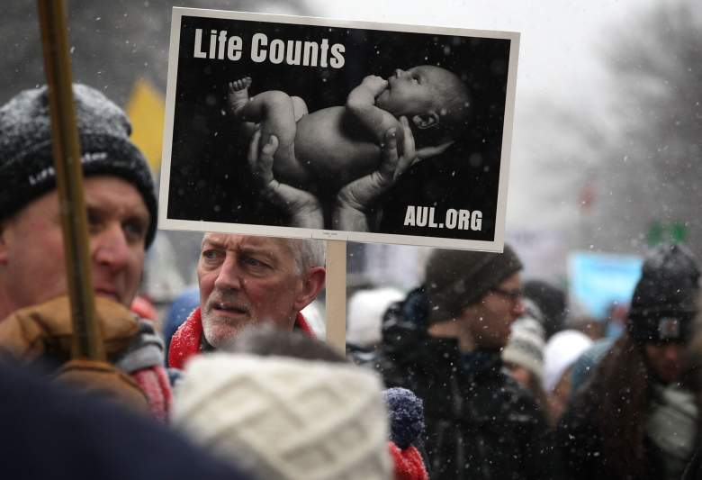 The March for Life has taken place every year since 1974. (Getty)