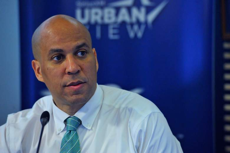Corey Booker speaks in a SiriusXM interview on March 11, 2016. (Getty)