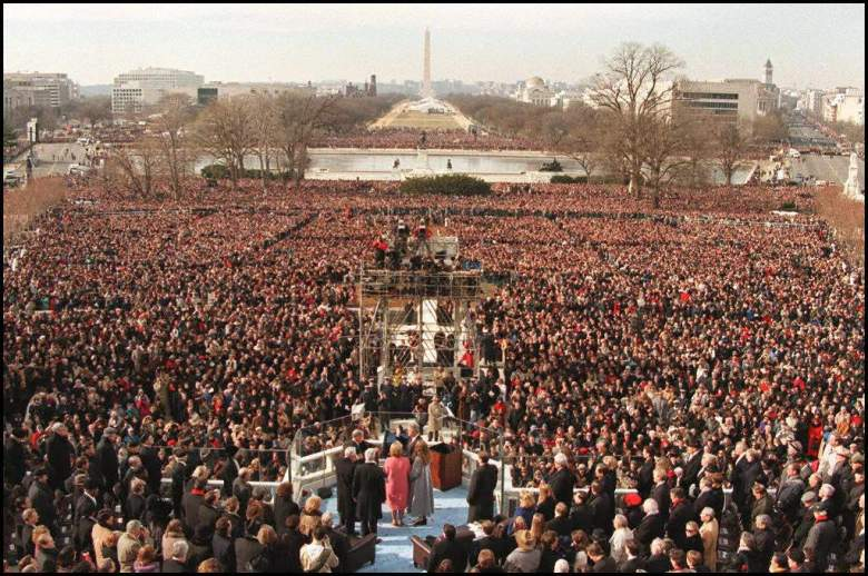 clinton inauguration numbers