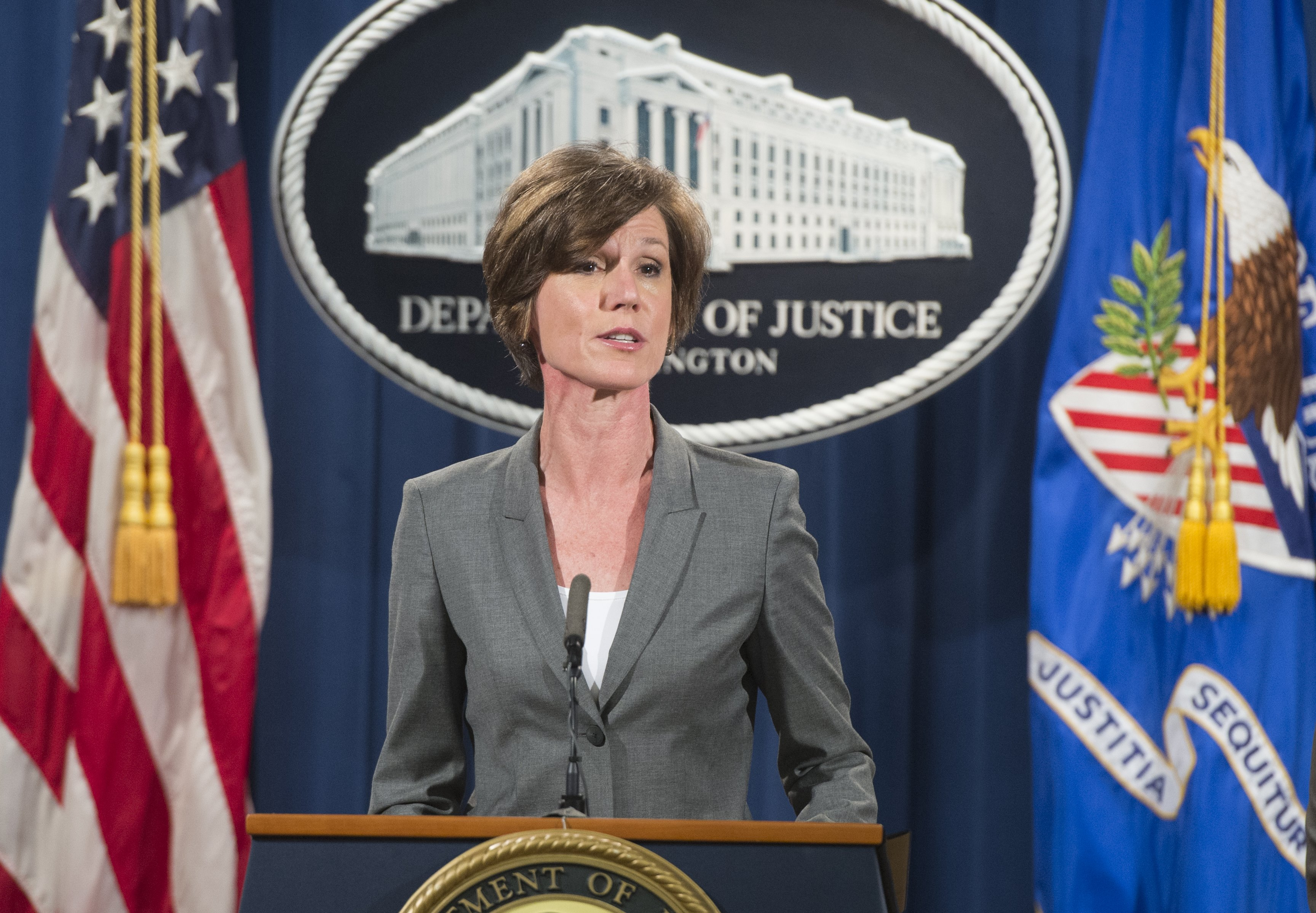 Sally Yates DOJ, Sally Yates department of justice, Sally Yates attorney general