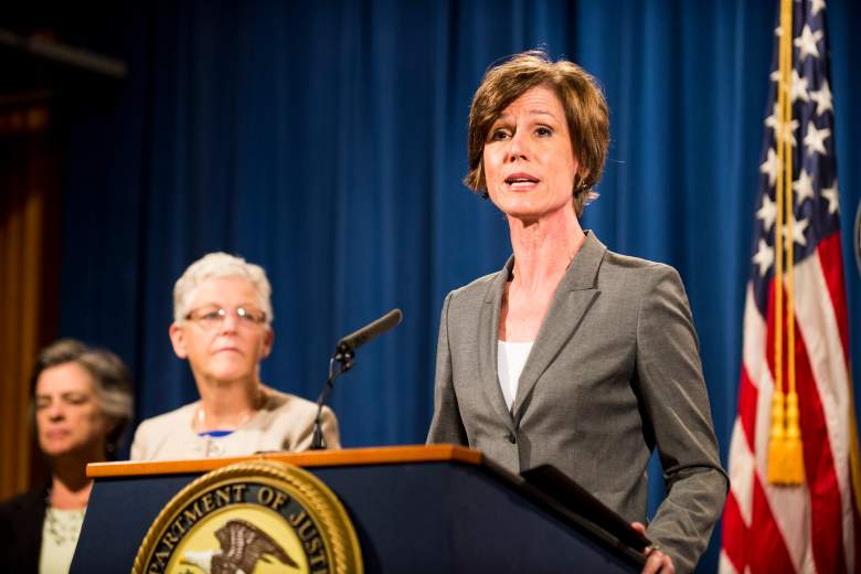 Sally Yates speaks during a press conference at the Department of Justice on June 28th, 2016. (Getty)