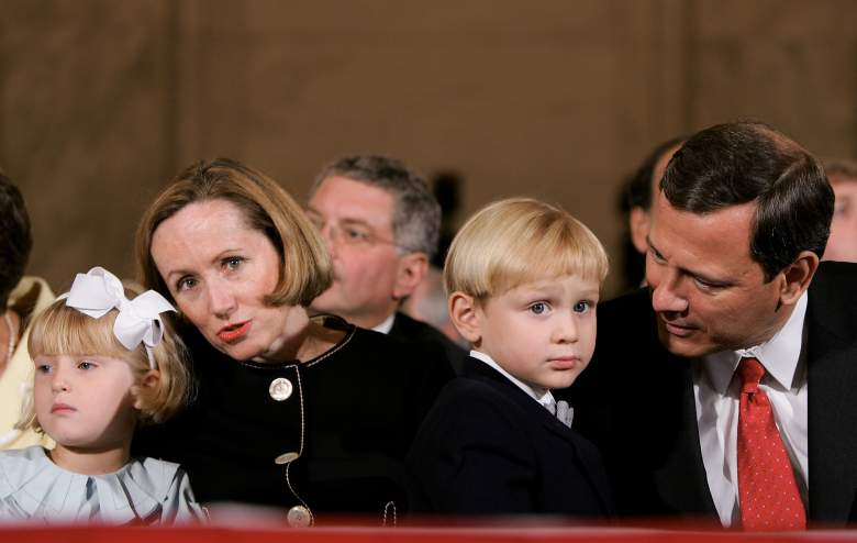 Jack Roberts, Josie Roberts, John Roberts, and Jane Roberts at the start of the first day of confirmation hearings in September 2005. (Getty)