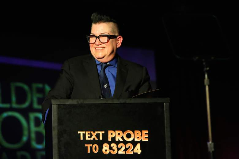 Lea DeLaria speaks onstage at The Golden Probe Awards 2016 on October 2, 2016. (Getty)