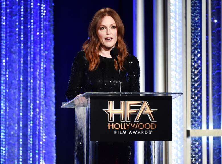 Julianne Moore speaks onstage during the 20th Annual Hollywood Film Awards on November 6, 2016 in Beverly Hills, California. (Getty)