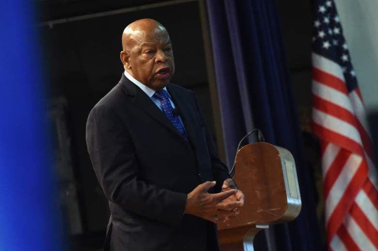 John Lewis speaks at the Nashville Public Library on November 19, 2016. (Getty)