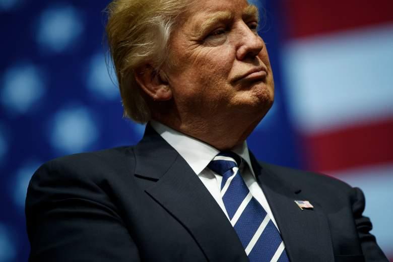 Donald Trump rally, Donald Trump american flag, Donald Trump grand rapids