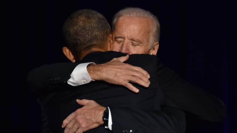 Obama Biden hug, Obama Biden medal, Obama Biden video