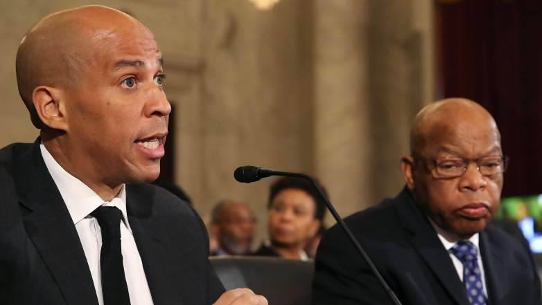 Cory Booker testimony, Cory Booker Jeff Sessions, Jeff Sessions hearing