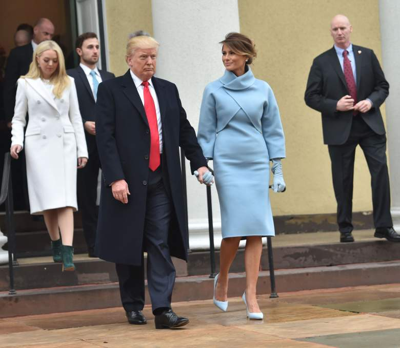 melania trump blue dress, melania trump blue coat