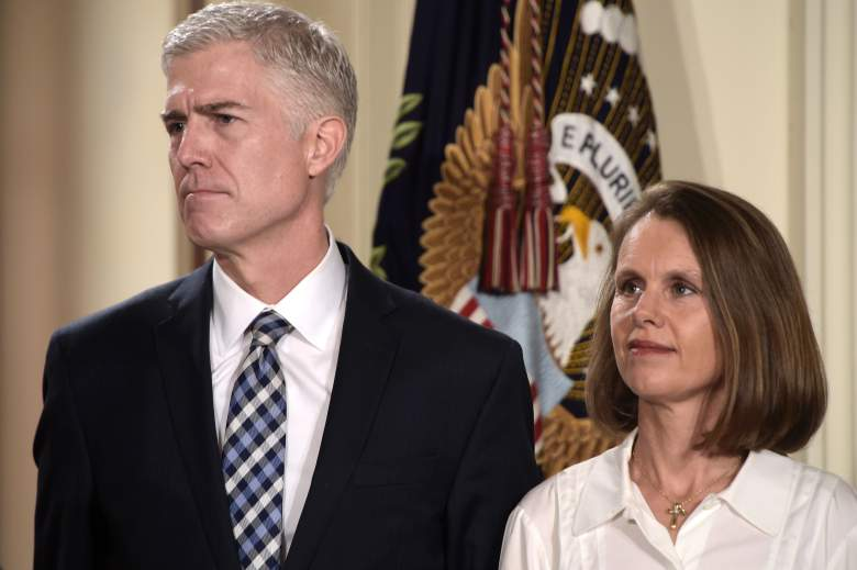 Judge Neil Gorsuch (L) and his wife Marie Louise (Getty)