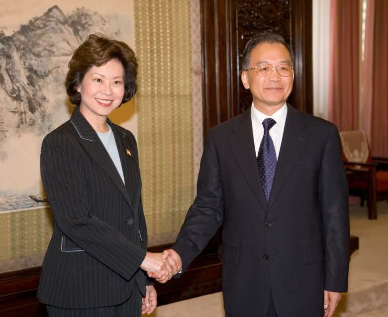 Elaine Chao china, Elaine Chao wen jiabo, Elaine Chao 2008
