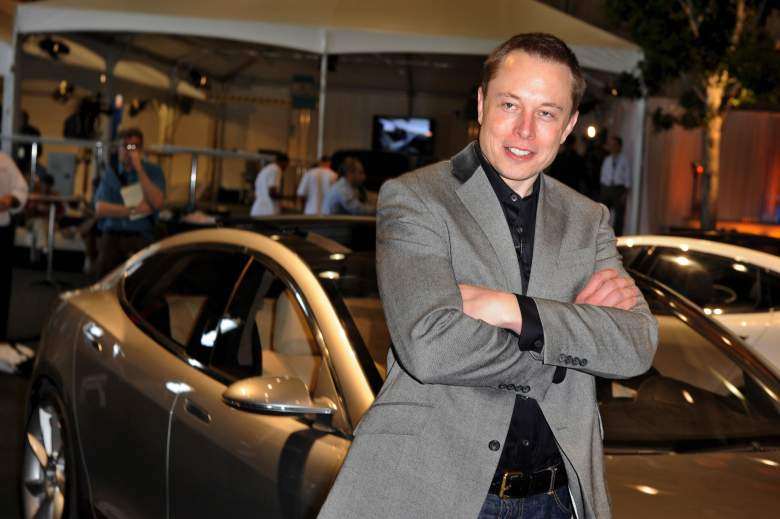 Elon Musk at the Tesla Model S launch in Hawthorne, Calif. on March 26, 2009. (Getty)