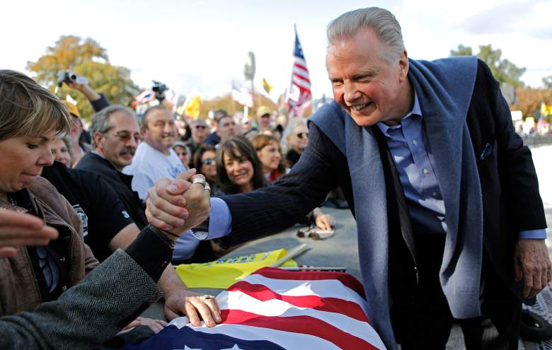 Jon Voight at an Obamacare protest on the West Front of the U.S. Capitol November 5, 2009. (Getty)