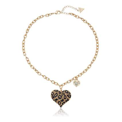 cheetah heart necklace