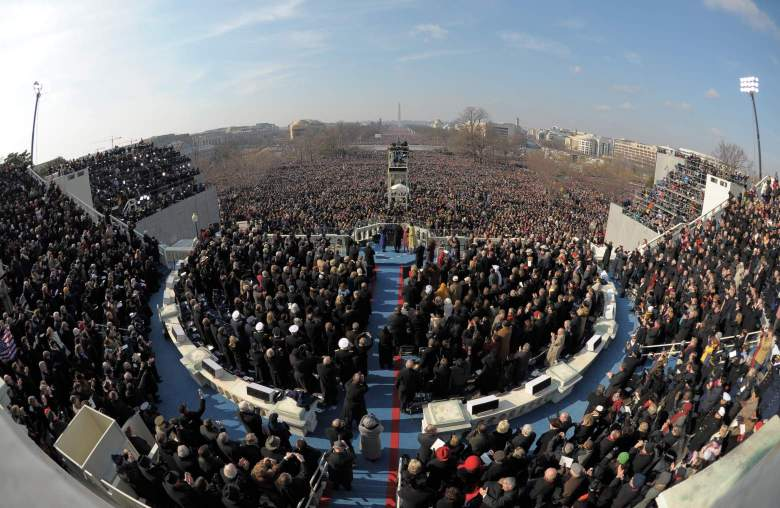 Obamas first inauguration. Getty