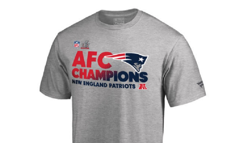 patriots afc champions super bowl 2017 gear apparel shirts hats hoodies