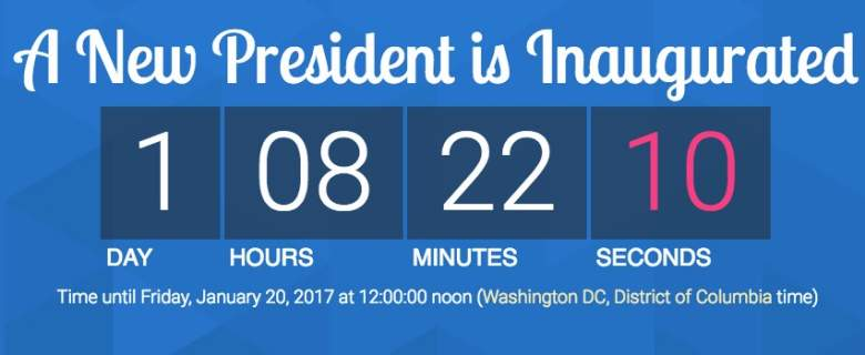 Trump Inauguration Countdown Timers To Know How Long Heavy Com