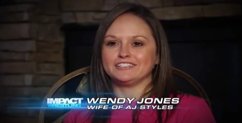 Wendy Jones is the wife of WWE superstar AJ Styles. (YouTube/Impact Wrestling)