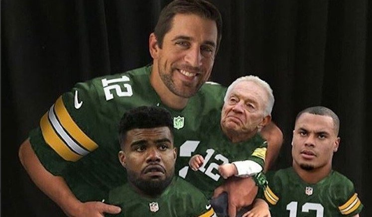 dallas cowboys memes, top, best, funny, lose, loss, green bay packers, ezekiel elliott, jerry jones, aaron rodgers, dak prescott, tony romo