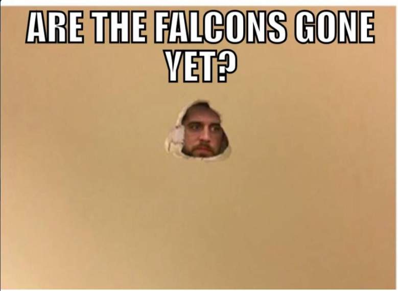 aaron rodgers, green bay packers memes, funny, best, photos, loss, atlanta falcons, nfl playoffs