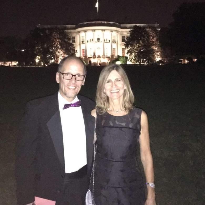 Ann Marie Staudenmaier and her husband, Tom Perez. (Facebook)