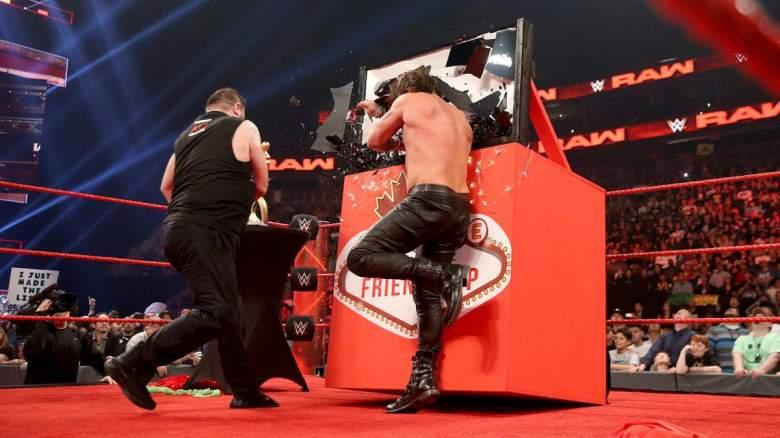 Monday Night Raw kevin owens chris jericho, Monday Night Raw festival of friendship, Monday Night Raw kevin owens attacks chris jericho