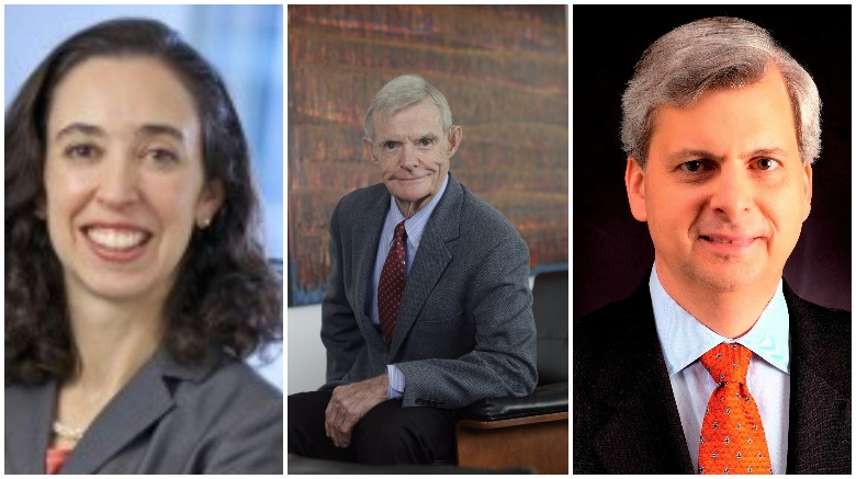 9th Circuit judges, from left to right Judge Michelle Friedland, Judge William Canby and Judge Richard Clifton.