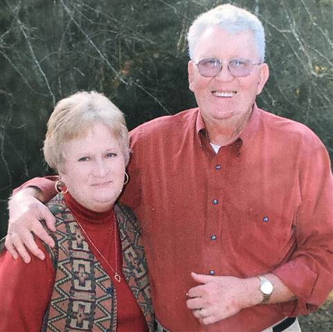 Brenda Pinter with her husband.