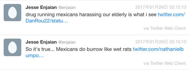 Jesse Enjaian Twitter posts