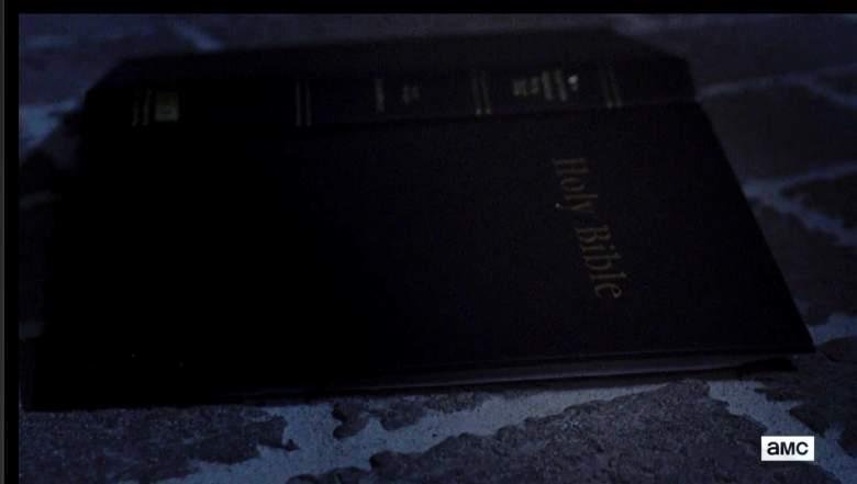Gabriel's Bible. (AMC/The Walking Dead)
