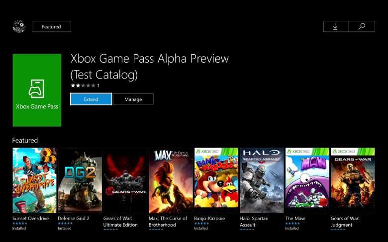 Xbox One, Xbox 360, Xbox Game Pass