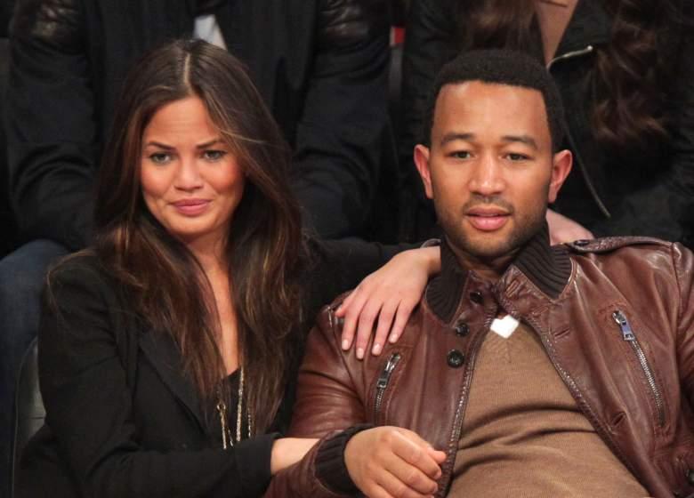 Model Christine Teigen and singer John Legend at the 2011 NBA All-Star Game. (Getty)