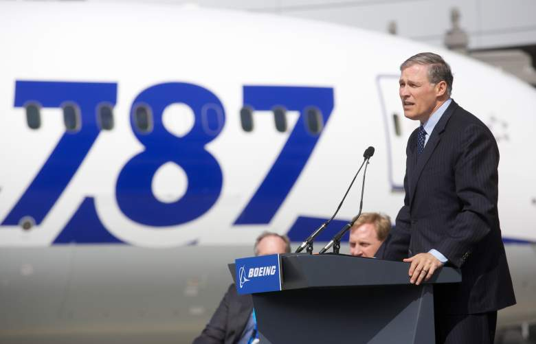 Jay Inslee 787, Jay Inslee boeing, Jay Inslee boeing press conference