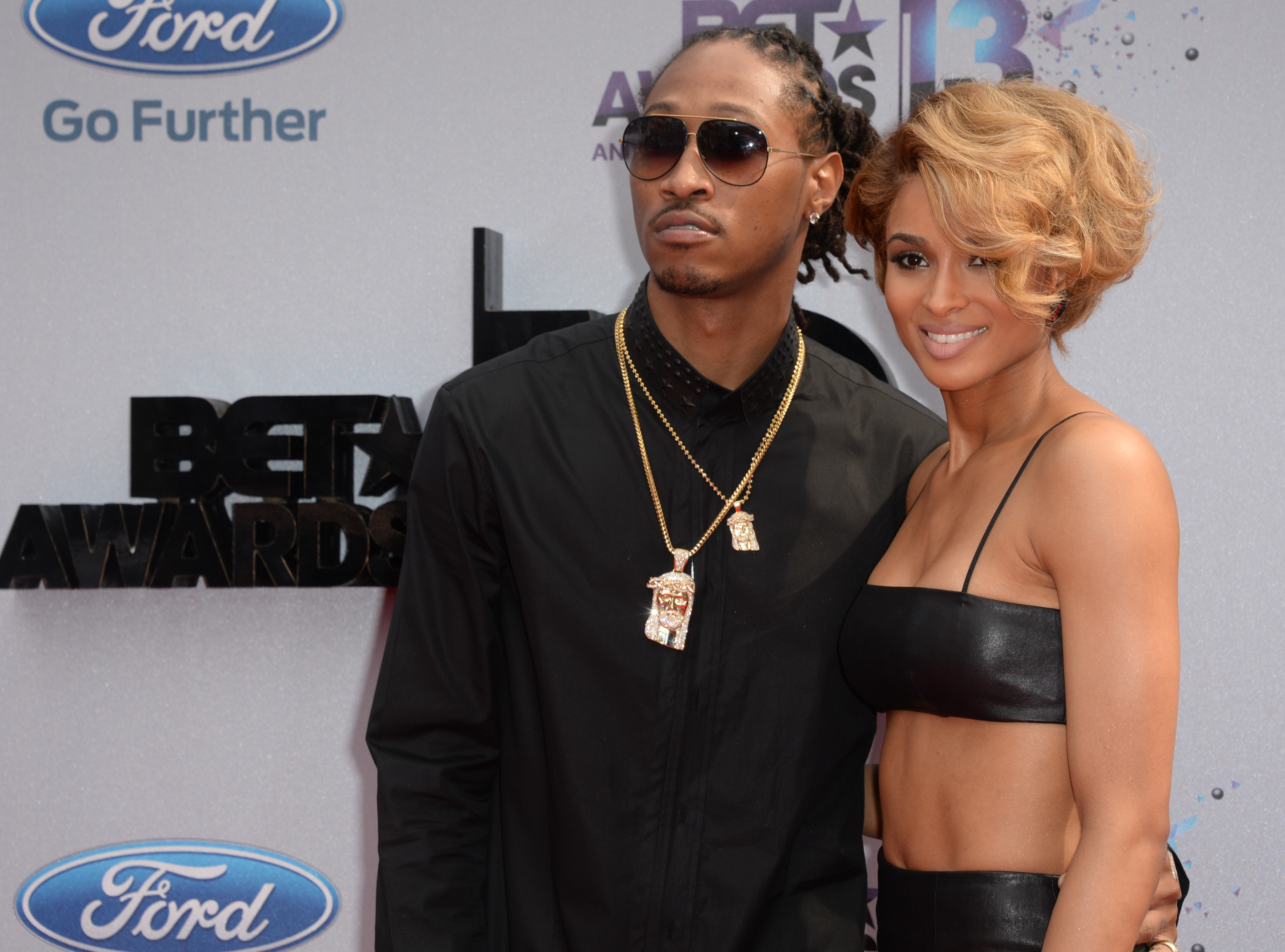 Future and Ciara at the BET Awards on June 30, 2013. (Photo by ROBYN BECK/AFP/Getty Images)