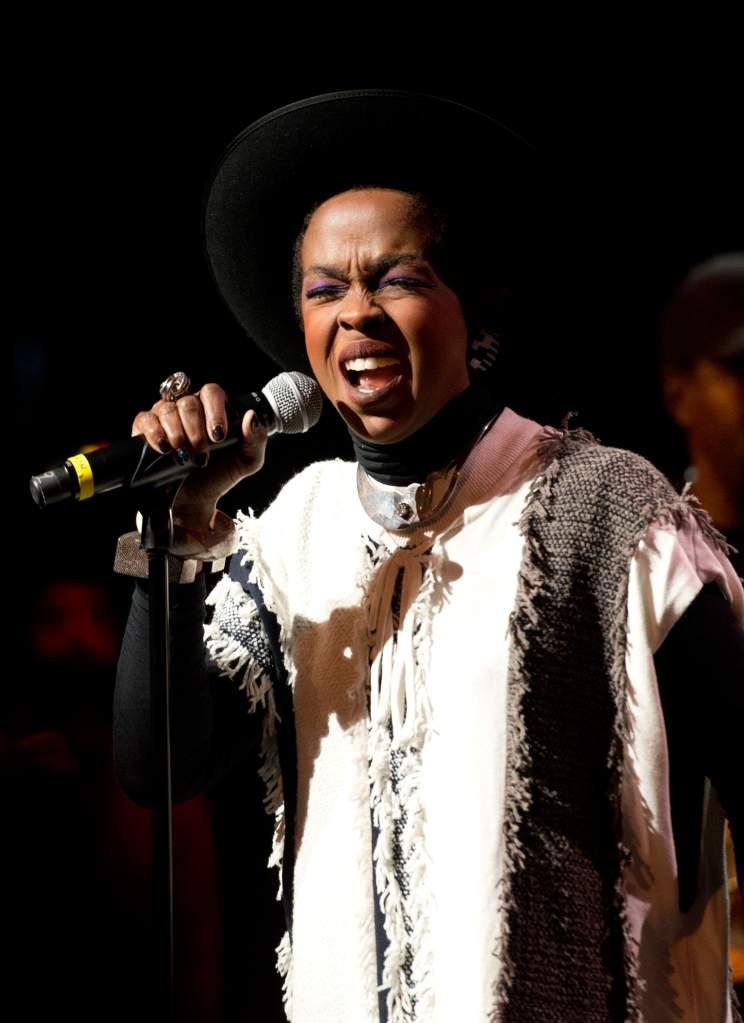 NEW YORK, NY - NOVEMBER 29: Singer Lauryn Hill performs during The Wailers 30th Anniversary Performance at The Apollo Theater on November 29, 2014 in New York City. (Photo by Noam Galai/Getty Images)