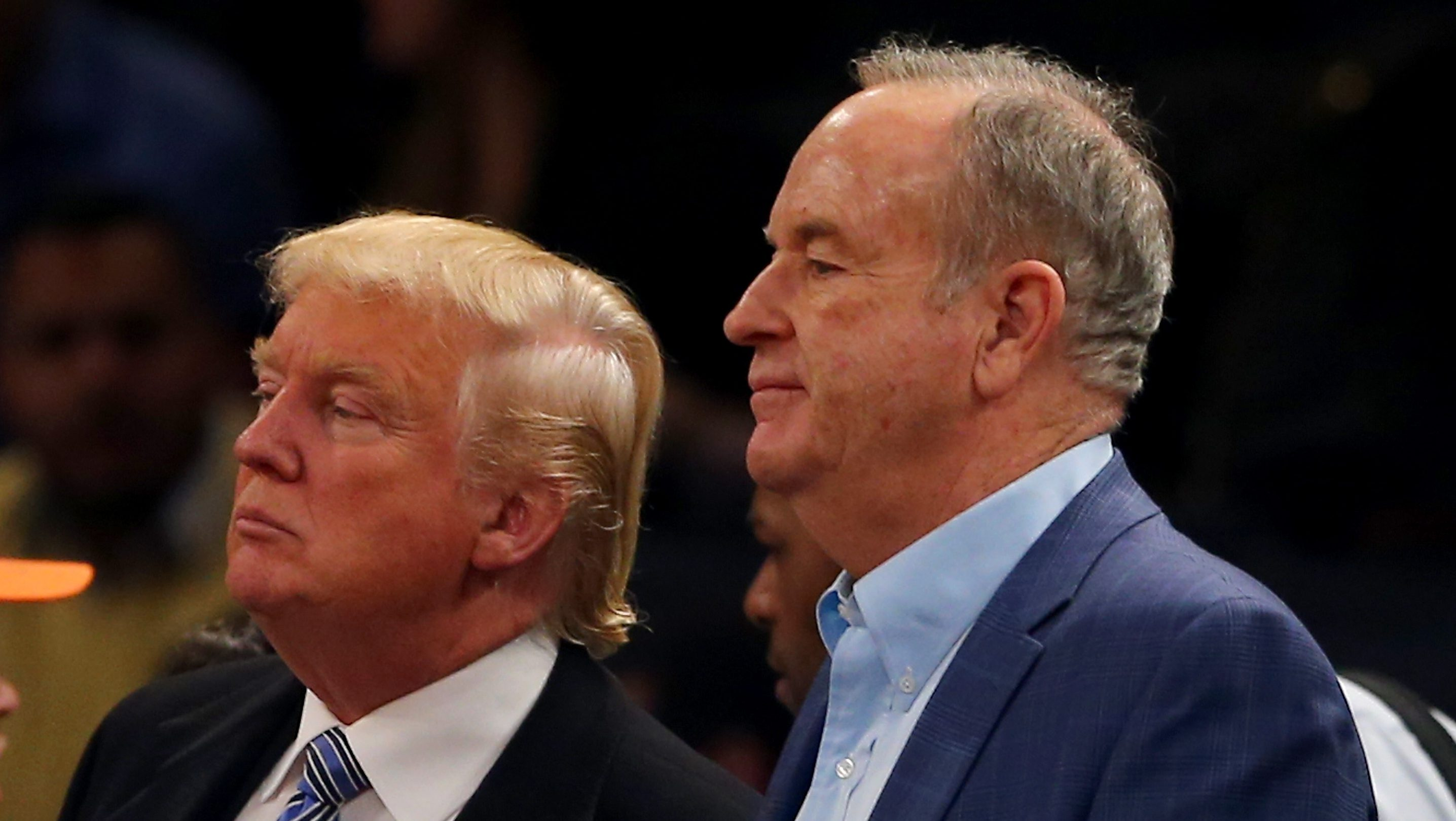 Donald Trump and Bill O'Reilly at a New York Knicks game. (Getty)