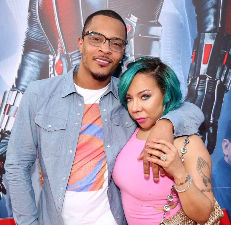 "LOS ANGELES, CA - JUNE 29: Actor/rapper Tip ""T.I."" Harris (L) and singer Tameka ""Tiny"" Cottle-Harris attend the world premiere of Marvel's ""Ant-Man"" at The Dolby Theatre on June 29, 2015 in Los Angeles, California. (Photo by Jesse Grant/Getty Images for Disney)"