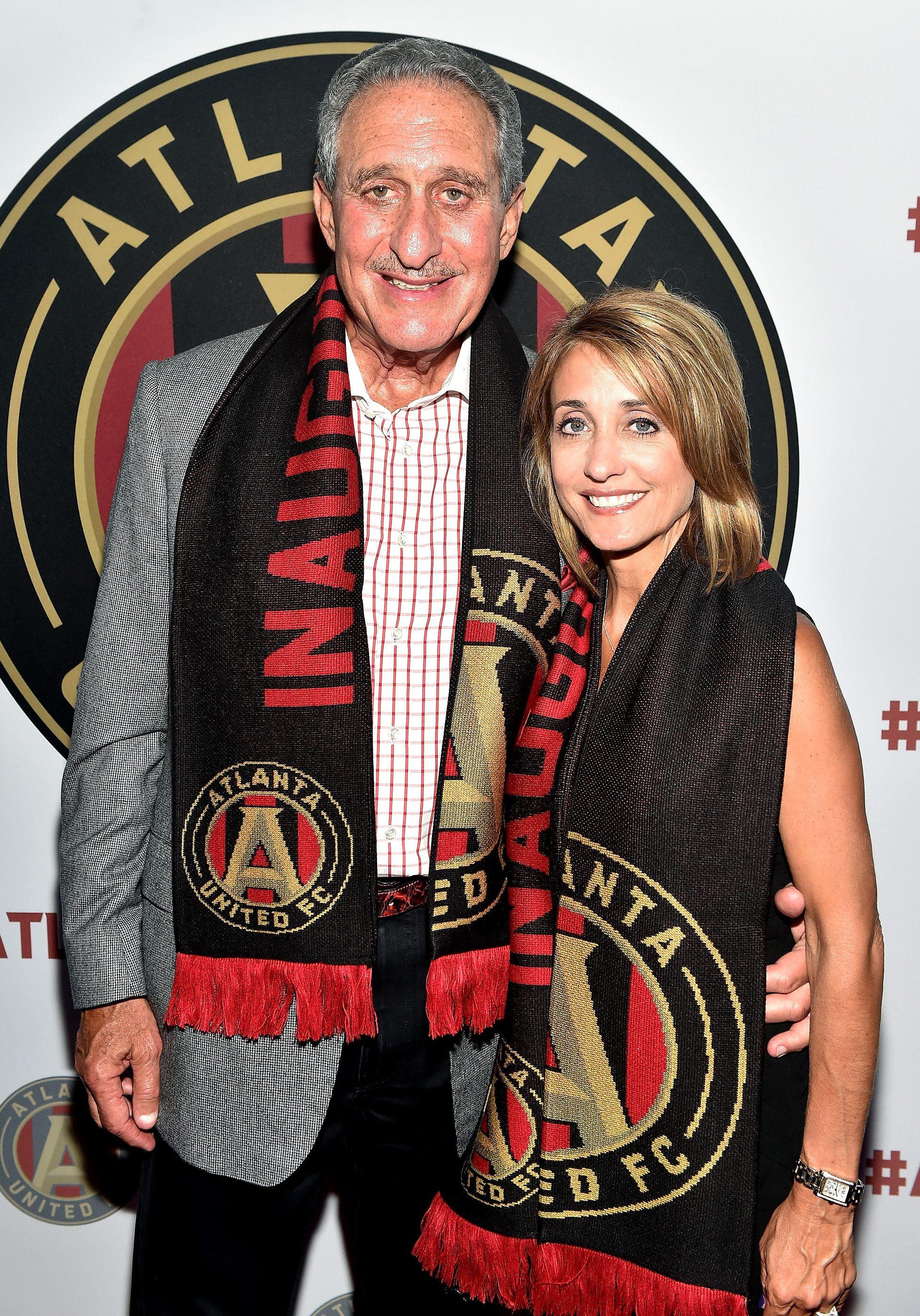 Arthur Blank and Angela Macuga attend the MLS Atlanta Launch Event at SOHO on July 7, 2015 in Atlanta, Georgia. (Getty)
