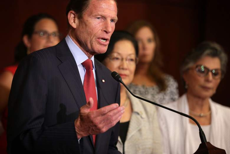 Richard Blumenthal speaks during a news conference on August 3rd, 2015 on Capitol Hill in Washington, DC. (Getty)