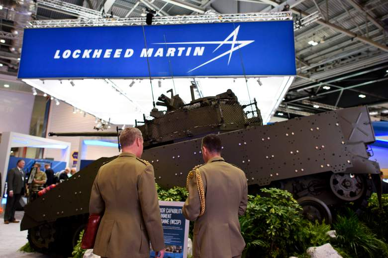 A vehicle on display at the Lockheed Martin stand during the Defence and Security Exhibition 2015 at ExCel on September 15, 2015. (Getty)
