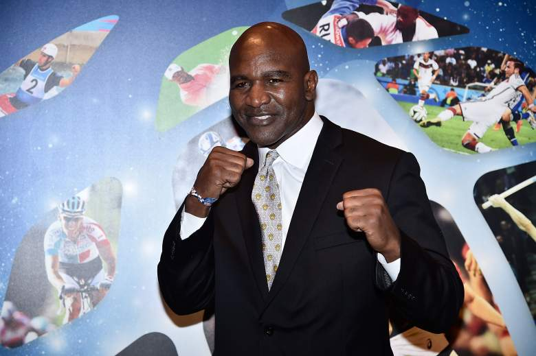 Evander Holyfield attends the Golden Podium award ceremony on October 13, 2015. (Getty)