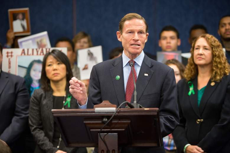 Richard Blumenthal speaks during a press conference on Capitol Hill on December 10, 2015 in Washington, D.C. (Getty)