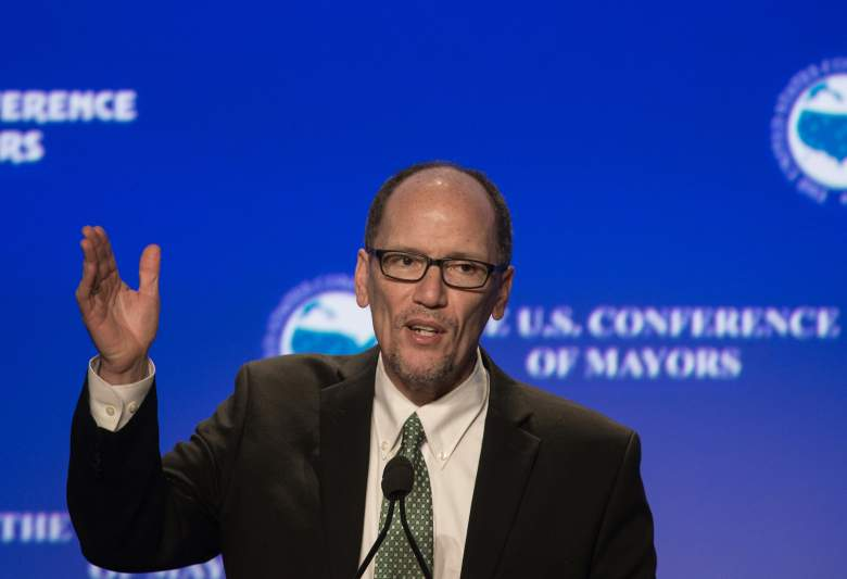 Tom Perez speaks at the 84th annual Winter Meeting of The United States Conference of Mayors in Washington, DC, on January 21, 2016. (Getty)