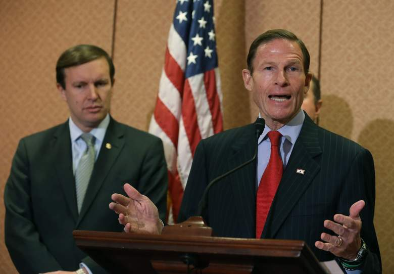 Richard Blumenthal speaks about gun safety during a news conference on Capitol Hill on January 27, 2016. (Getty)