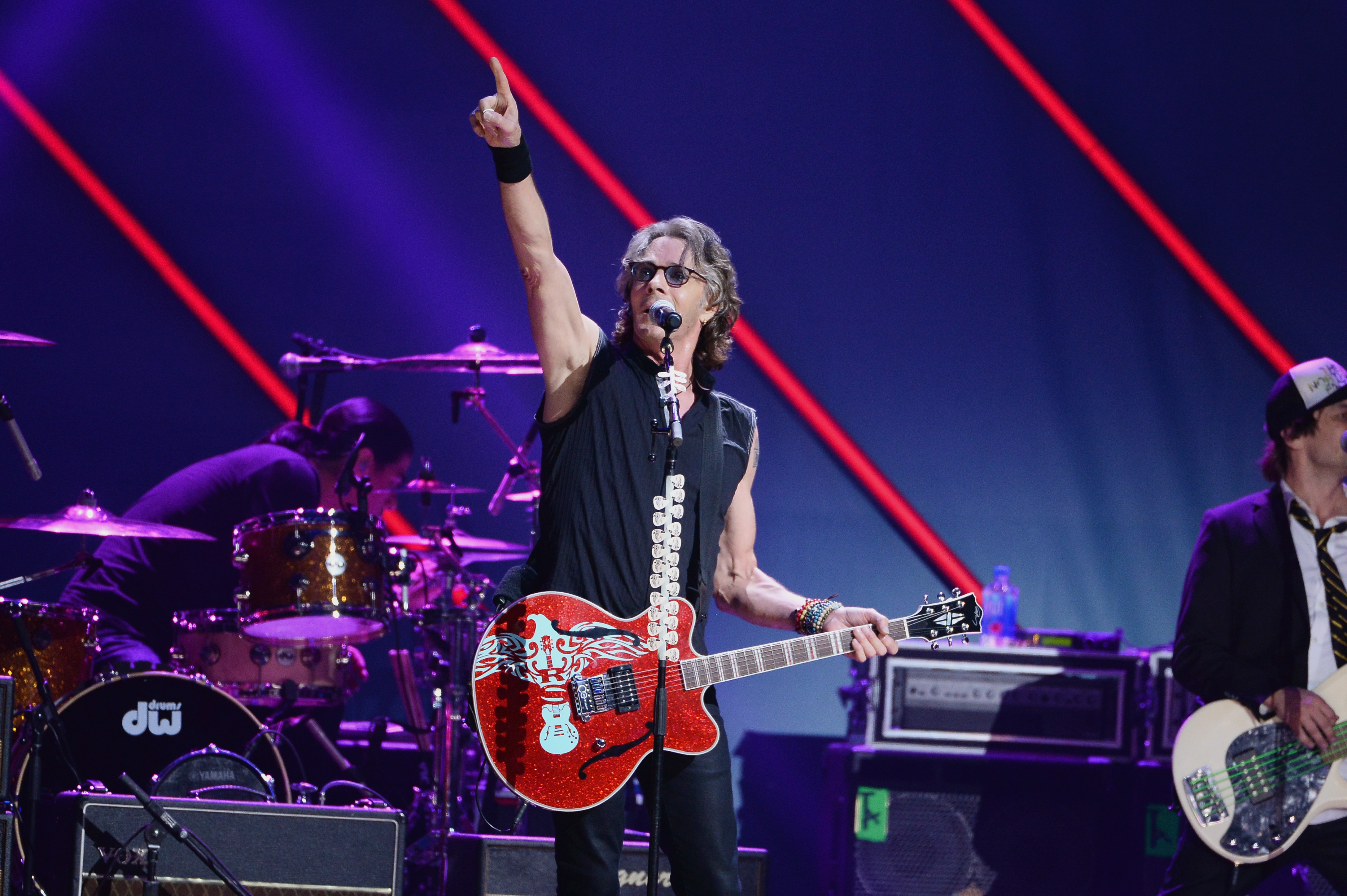 Rick Springfield performs during the iHeart80s Party on February 20, 2016. (Photo by Frazer Harrison/Getty)