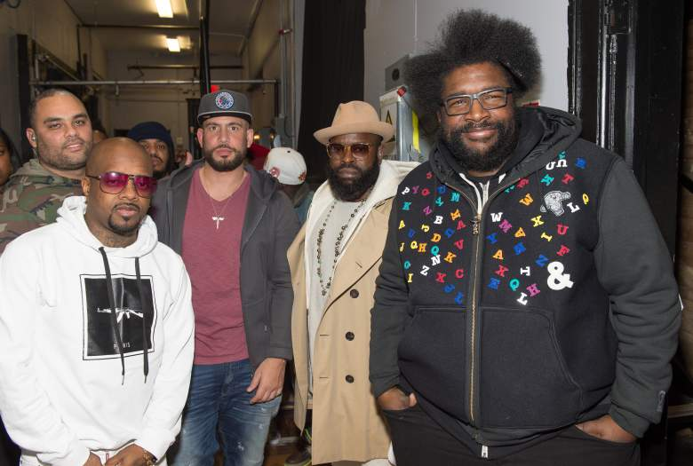 Jermaine Dupri, The Roots, and DJ Drama at the Martell Cognac Vanguard Experience concert April 9, 2016. (Getty)